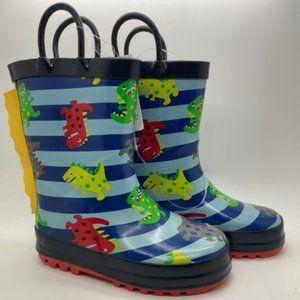 Kids Boots KomforMe Dinosaur Blue Multi Pull On